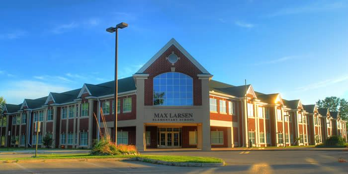 The front of Max Larsen Elementary School