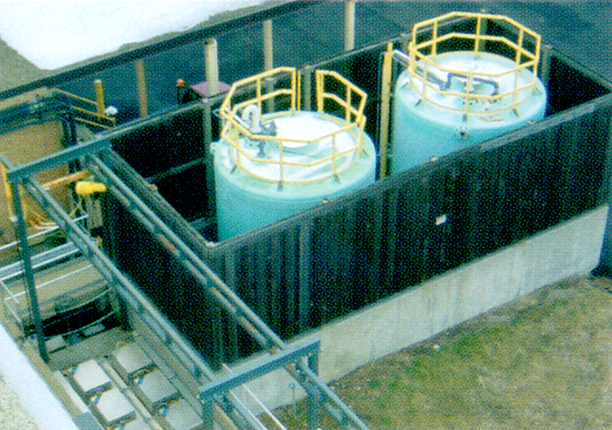 Tanks in the Treatment Plant
