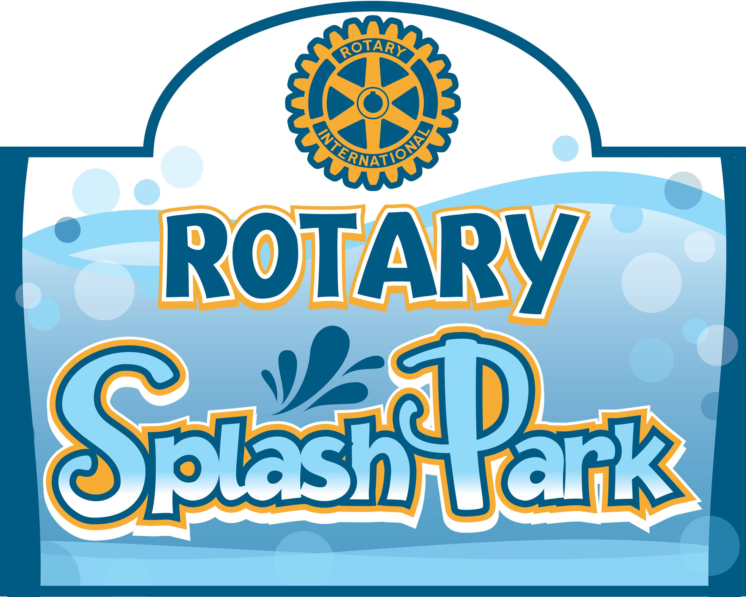 Rotary Splash Park Welcome Sign