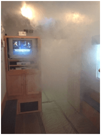 A smoke filled room