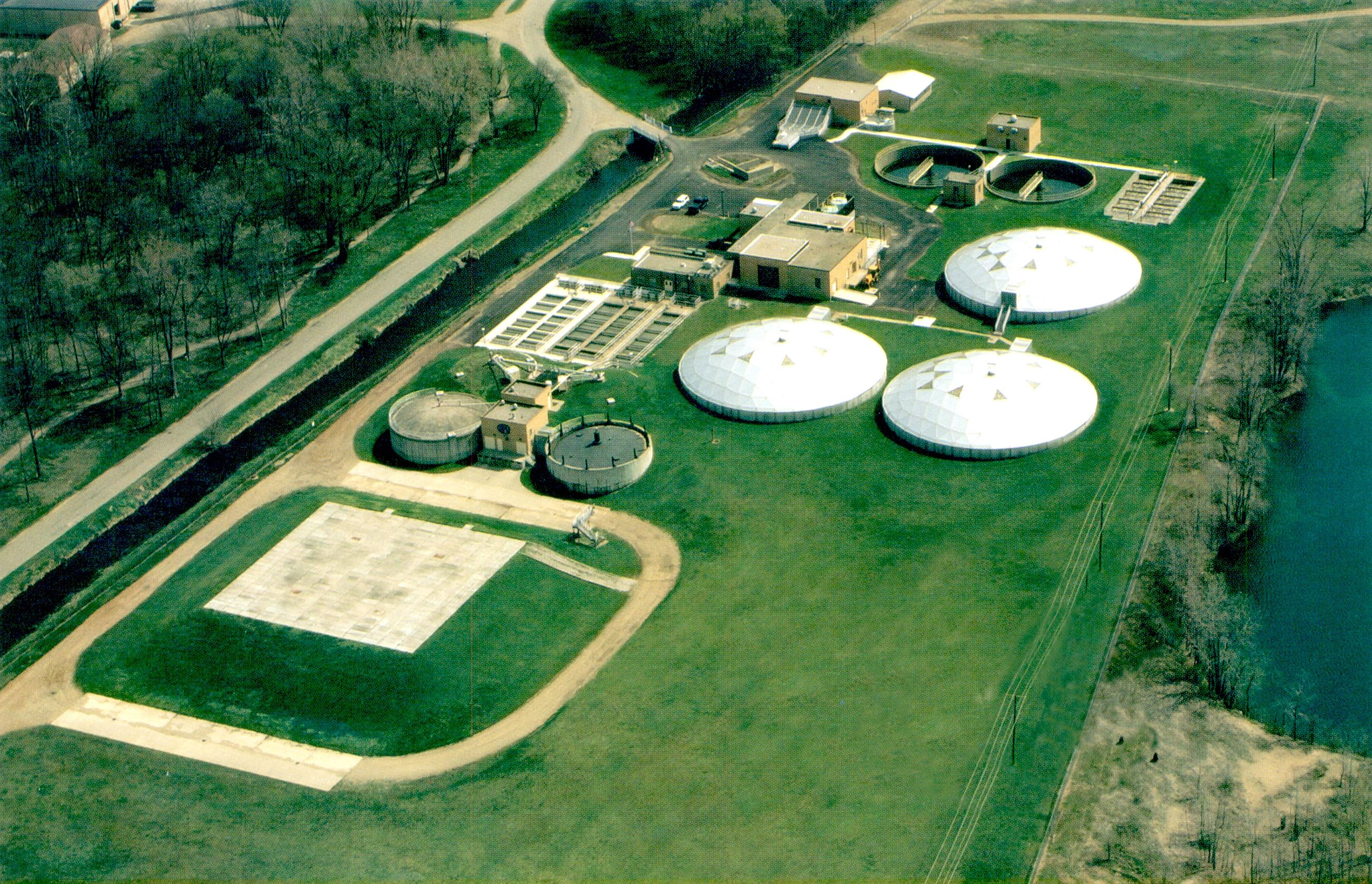 Aerial View of the Wastewater Treatment Plant